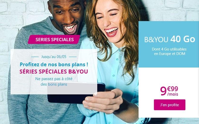 B&You forfait 40 Go en promo