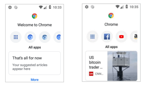 Chrome Android non tactile