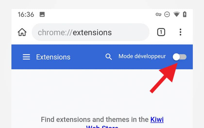 extension chrome mode developer