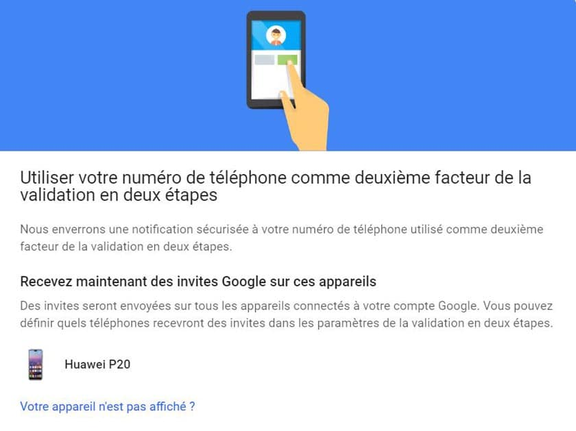 cle securite compte google