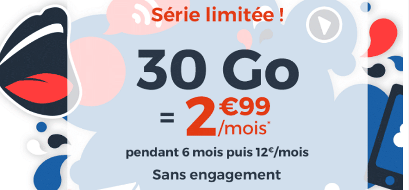 french days cdiscount mobile forfait 30 Go à 2,99 €