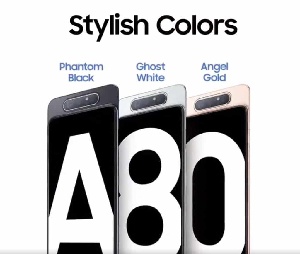 galaxy a80 couleurs