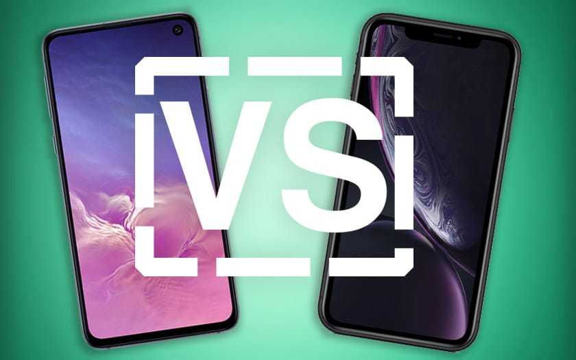 galaxy s10e iphone xr comparatif