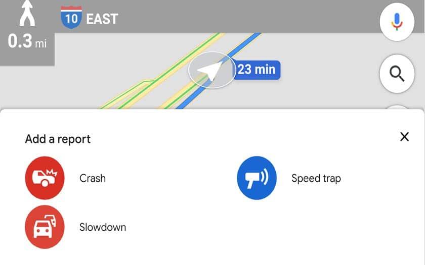 google maps ralentissements