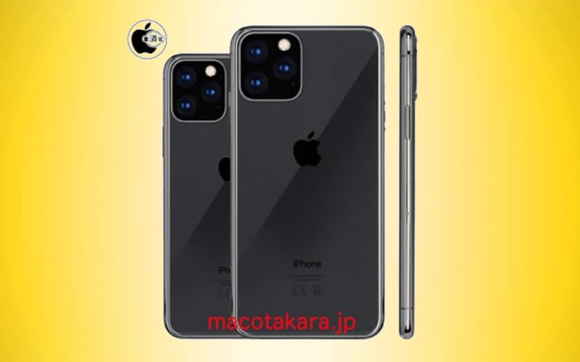 iphone 2019 apple 5 modèles triple capteur photo