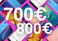 meilleurs smartphones 700 800