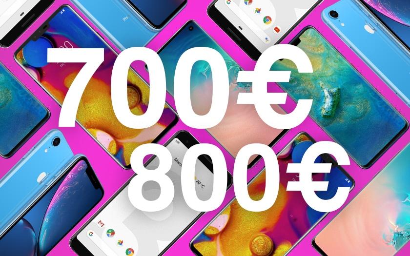 Meilleurs smartphones entre 700 € et 800 €