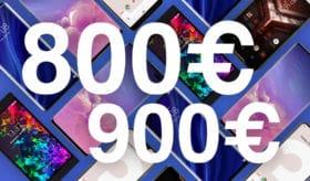 Meilleurs smartphones entre 900 et 800 euros