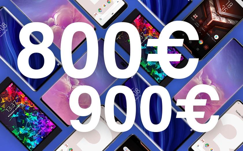 Meilleurs smartphones entre 800 et 900 euros