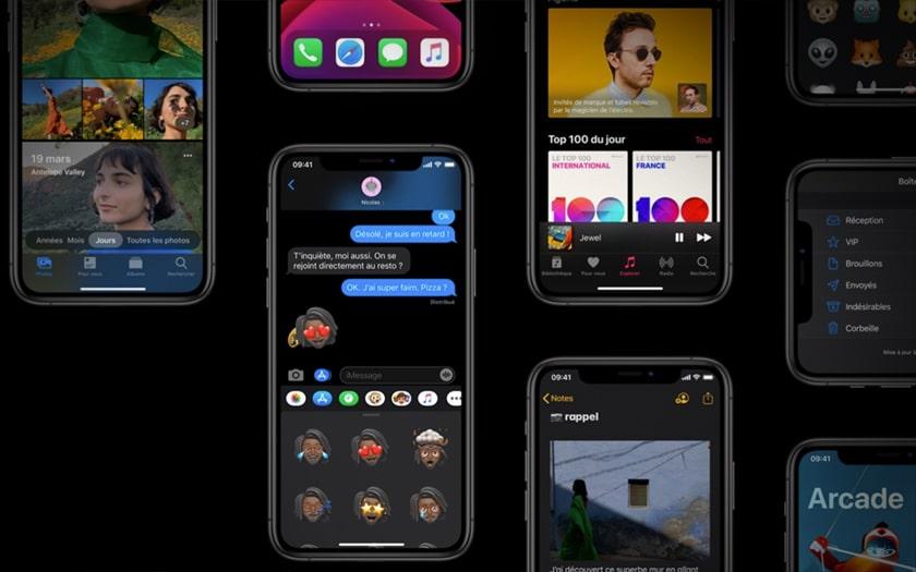 Le mode sombre de iOS 13