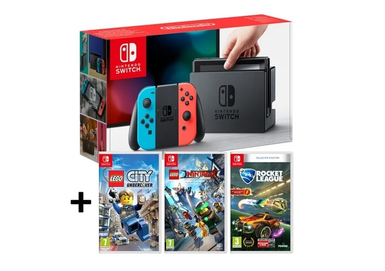 French Days Auchan sur pack Nintendo Switch + 3 jeux