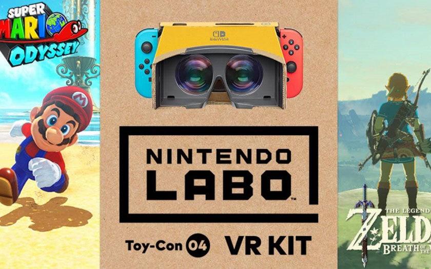 Nintendo Labo VR sera compatible avec Zelda et Mario Odyssey