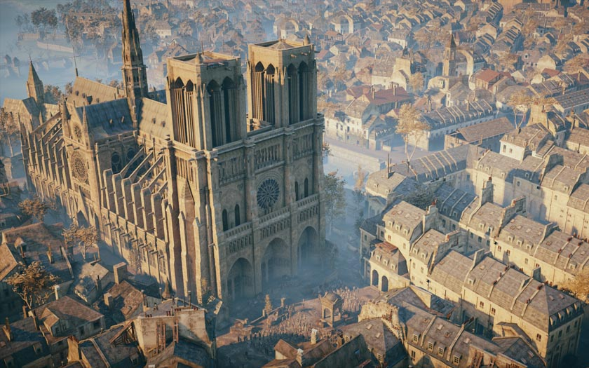 notre dame assassins creed unity