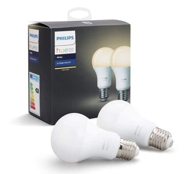 Pack Philips Hue 2 ampoules connectées White E27