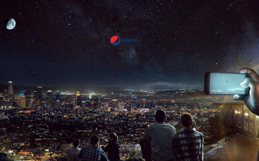 Pepsi publicité espace