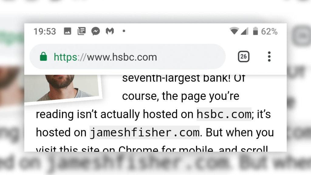 Une fausse barre d'adresse, plus vraie que nature / jameshfisher.com
