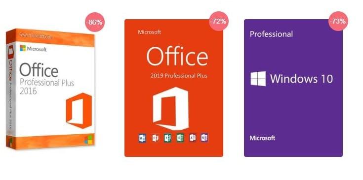 Urcdkey : Windows 10 Pro à 10.39 €, Office 2016 Pro à 26,76 € et Office 2019 Pro 47,99 €