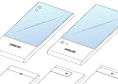 smartphone recouvert ecran samsung