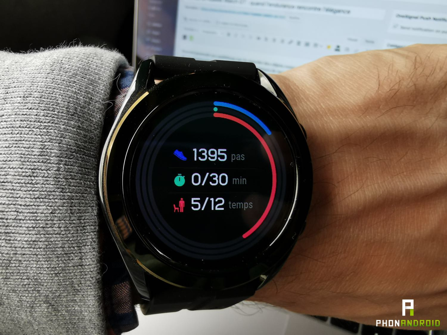 test huawei watch gt white activite