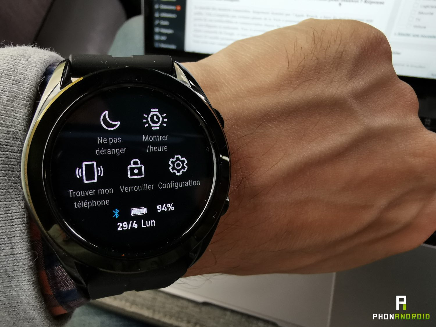 test huawei watch gt menu rapide