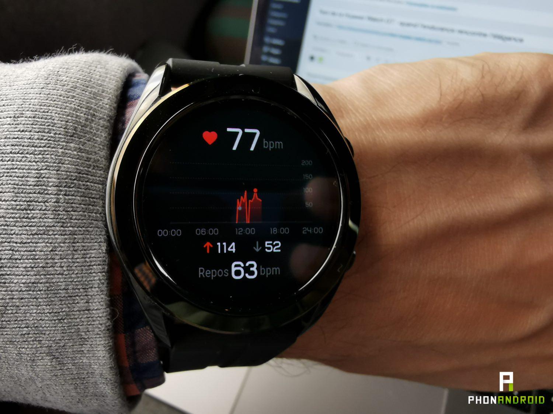test huawei watch gt rythme cardiaque