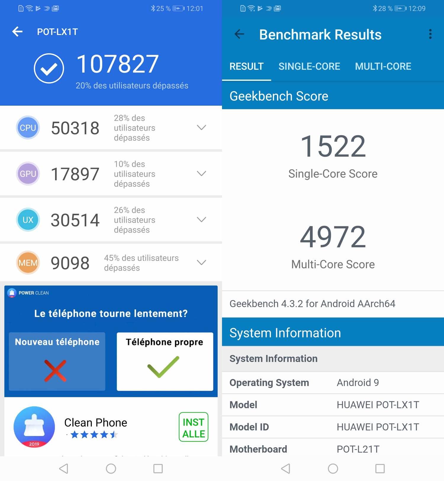 test huawei psmart plus 2019 benchmarks