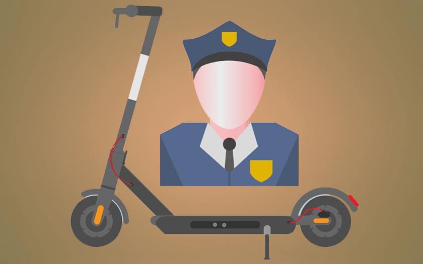 trottinette électrique police paris