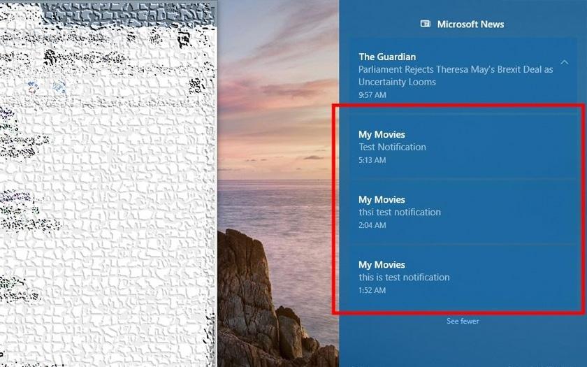 Windows 10 bug notifications