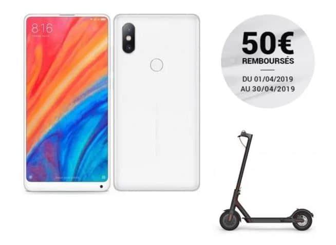 Xiaomi Mi Mix 2S avec trottinette Xiaomi M365