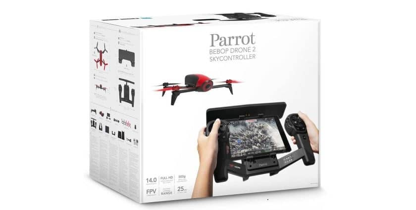 Drone-Parrot-Bebop-2-Rouge-Skycontroller
