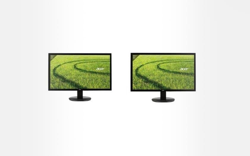 acer 2 ecrans PC