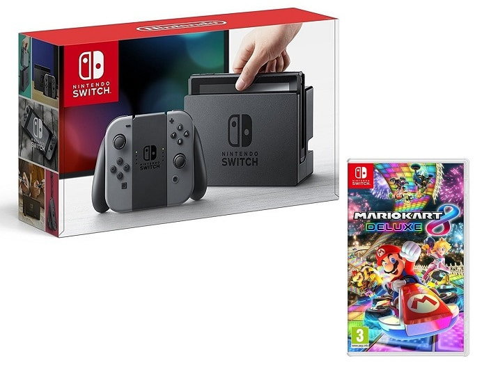 console Nintendo Switch grise + Mario Kart 8 Deluxe