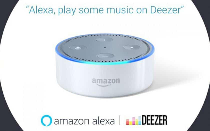 Deezer avec Alexa sur les enceintes Amazon Echo