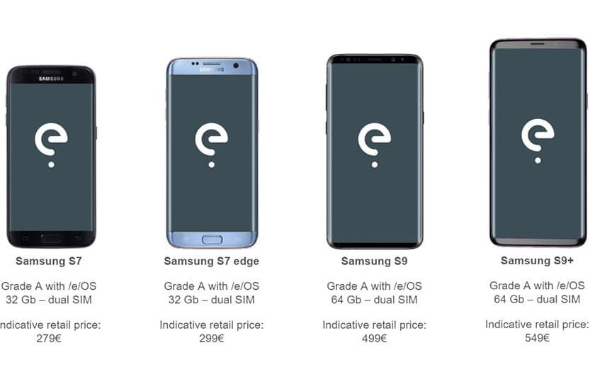e smartphones android sans google