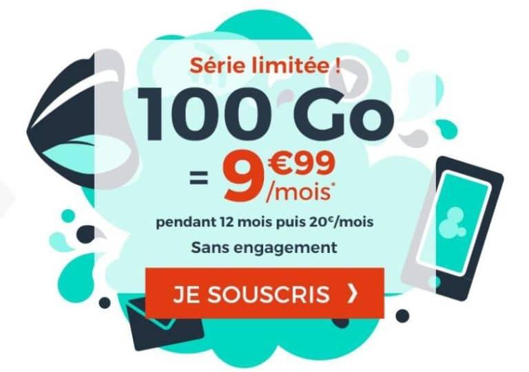 cdiscount mobile forfait 100go par mois pendant 1 an sans engagement