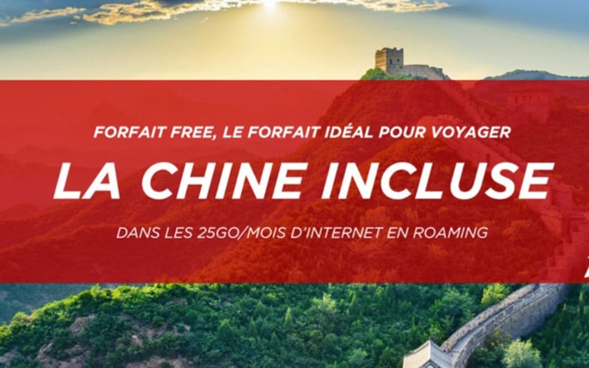 free mobile chine data roaming