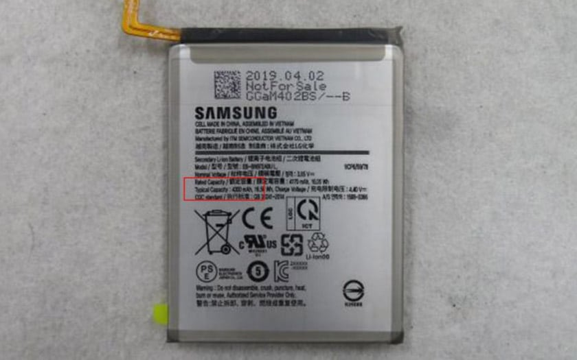 galaxy note 10 5g batterie 4300 mah