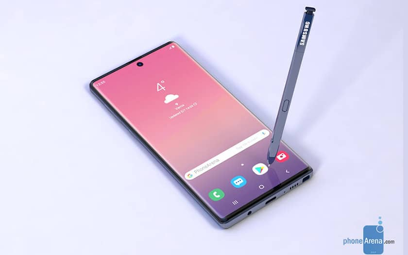 galaxy note 10 design