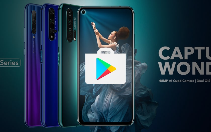 honor 20 play store
