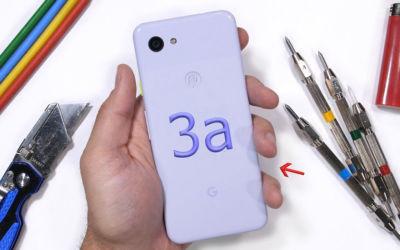 Google Pixel 3 a test de resistance