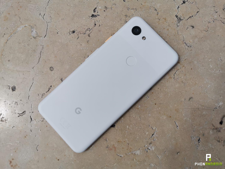 test google pixel 3a design