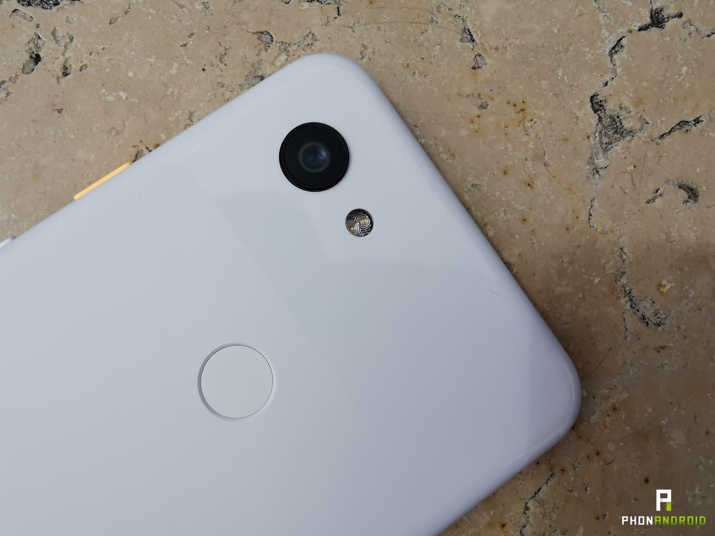 test google pixel 3a lecteur empreintes