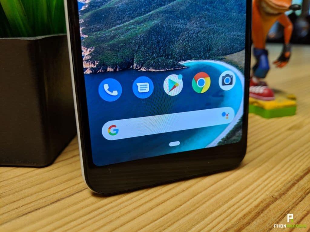 test google pixel 3a menton