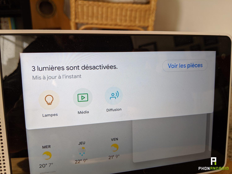 test lenovo smart display controle domotique