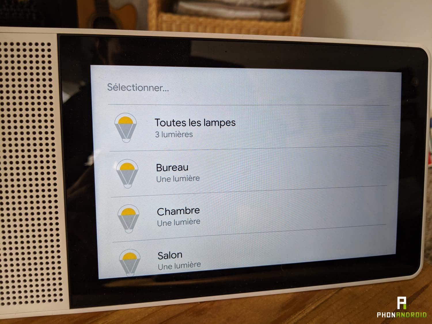 test lenovo smart display lumieres