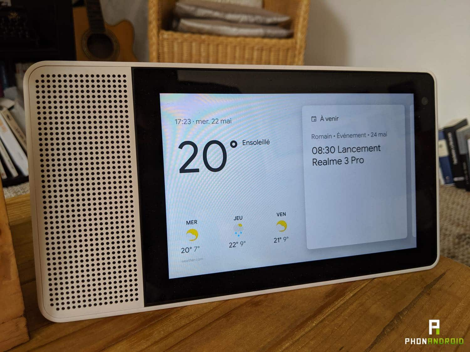 test lenovo smart display meteo