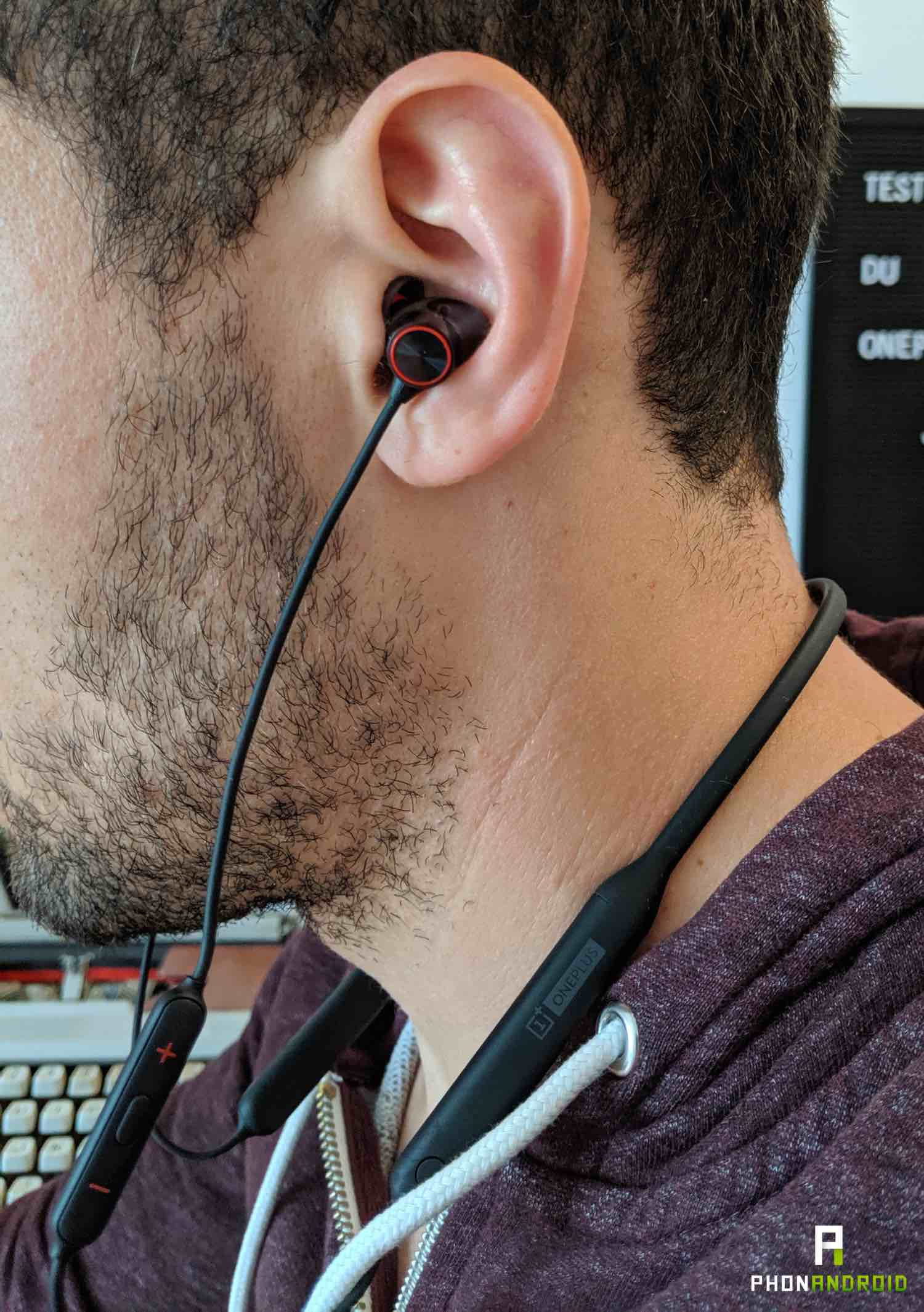 test oneplus bullets wireless 2 ergonomie