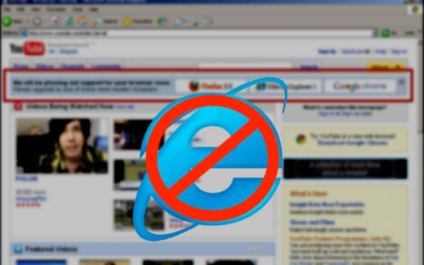YouTube et Internet Explorer 6