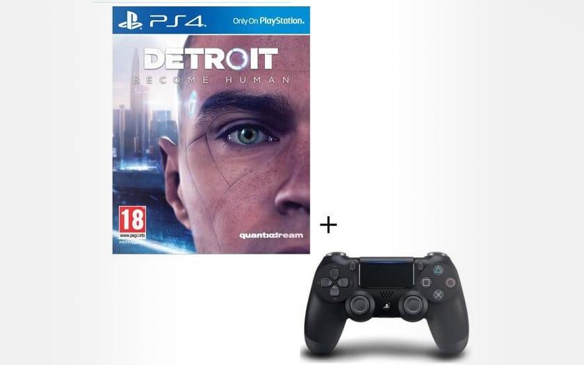Detroit Become Human + manette dualshock 4 V2