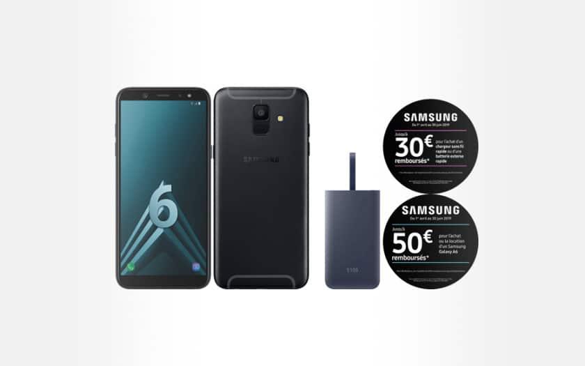 Bon plan : Samsung Galaxy A6 32 Go + batterie externe Fastcharge 5100 mAh à 129 €